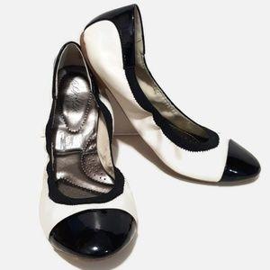 Dexter Deflex Cap Toe Ballerina Flats Size 9.5